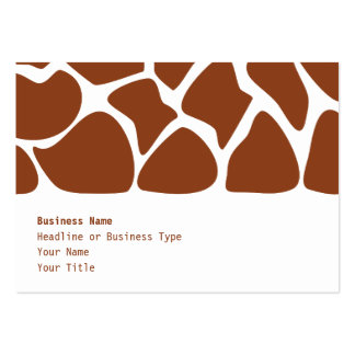 Brown Giraffe Print Pattern. Business Cards