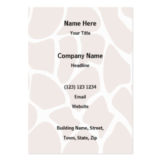 Brown Giraffe Print Pattern. Pack Of Chubby Business Cards