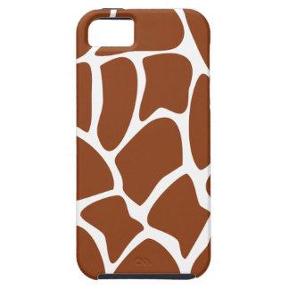 Brown Giraffe Print Pattern. iPhone 5 Covers