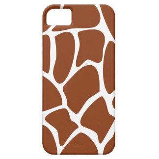 Brown Giraffe Print Pattern. iPhone 5 Cases