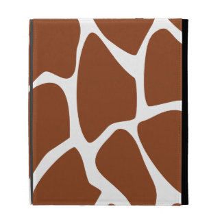 Brown Giraffe Print Pattern. iPad Folio Cover