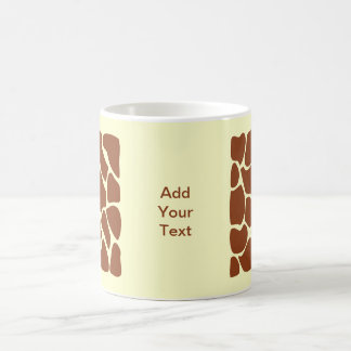 Brown Giraffe Print Pattern. Coffee Mug