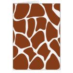 Brown Giraffe Print Pattern. Greeting Card