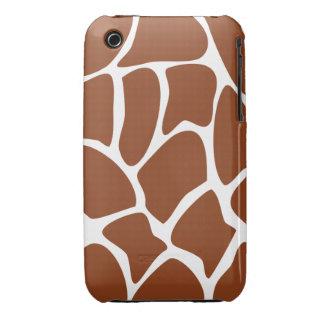 Brown Giraffe Print Pattern. iPhone 3 Case-Mate Cases