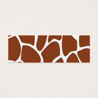 Brown Giraffe Print Pattern. Mini Business Card