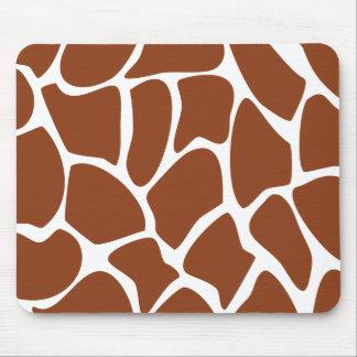Brown Giraffe Print Pattern. Mousepads