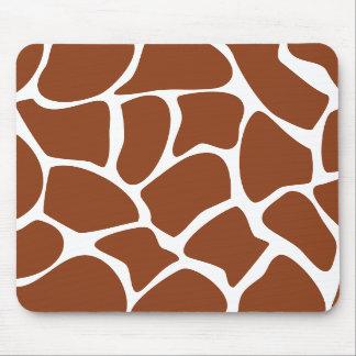 Brown Giraffe Print Pattern. Mousepad