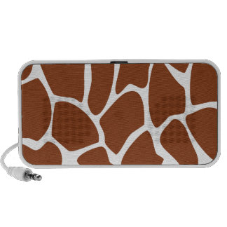Brown Giraffe Print Pattern. Laptop Speaker