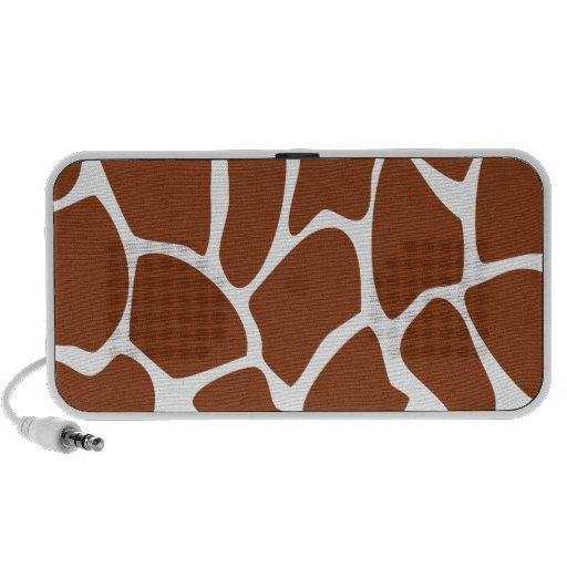 Brown Giraffe Print Pattern. Laptop Speaker