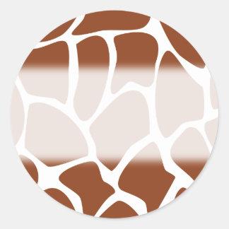 Brown Giraffe Print Pattern Stickers