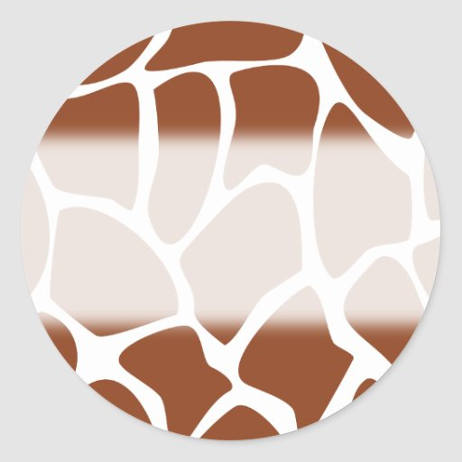 Brown Giraffe Print Pattern. Stickers
