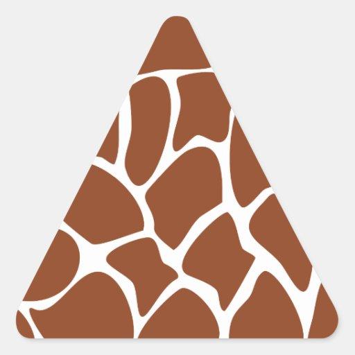 Brown Giraffe Print Pattern. Sticker