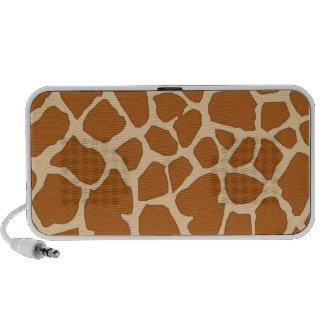 brown giraffe skin laptop speaker