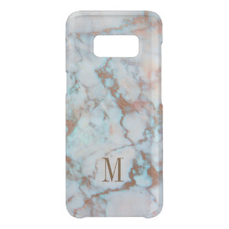Brown Glitter Blue And Gray Marble Stone Uncommon Samsung Galaxy S8 Case