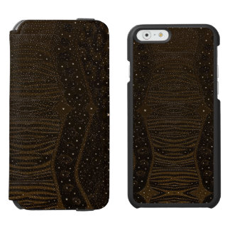 Brown Glitter Zebra Abstract Incipio Watson™ iPhone 6 Wallet Case