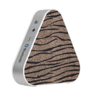 Brown glitter zebra stripes speaker