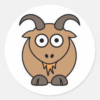 Brown Goat Classic Round Sticker