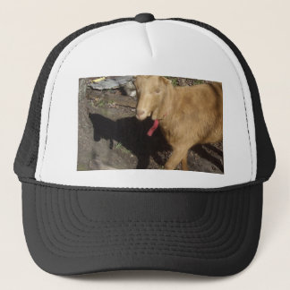 Brown Goat Trucker Hat