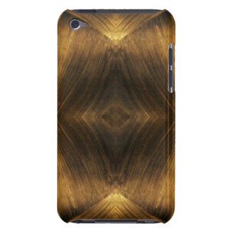 Brown Gold Abstract Pattern Print Design Barely There iPod Covers