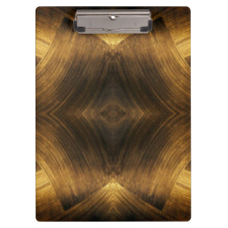 Brown Gold Abstract Pattern Print Design Clipboard