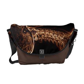 Brown/Gold C-spine Messenger Bag (Medium)