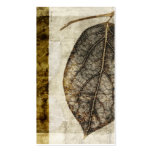 Brown Gold Fall Leaves Pack Of Standard Business Cards