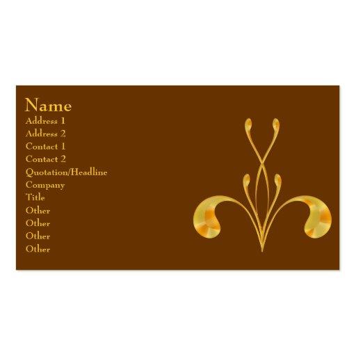 Brown & Gold Fleur Business Card