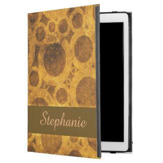 Brown Gold Steampunk Grunge iPad Pro Case