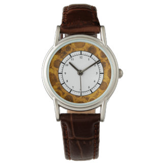 Brown Gold Steampunk Grunge Pattern Watch