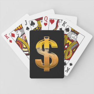 Brown Gradient Dollar Sign Playing Cards
