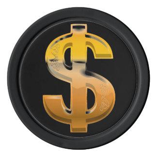 Brown Gradient Dollar Sign Poker Chips
