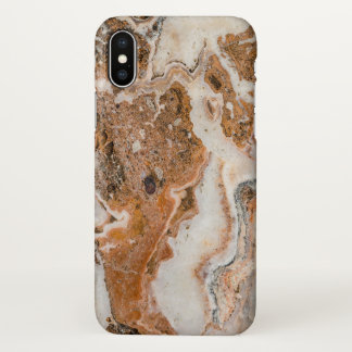 Brown & Gray Marble Texture iPhone X Case