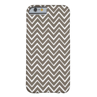 Brown gray whimsical zigzag chevron pattern barely there iPhone 6 case