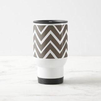 Brown gray whimsical zigzag chevron pattern coffee mug