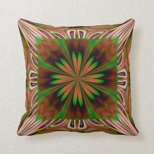 Brown Green American MoJo Pillows