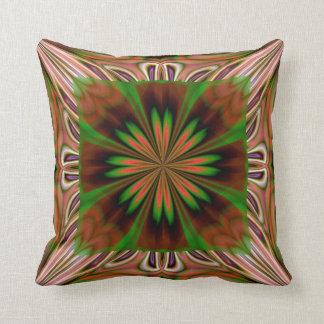Brown Green American MoJo Pillows Throw Cushion