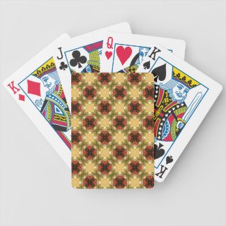 Brown, Green And Cream Abstract Pattern Bicycle Playing Cards