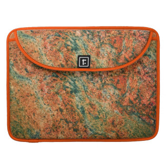 Brown & Green Faux Marble Stone Sleeve For MacBook Pro