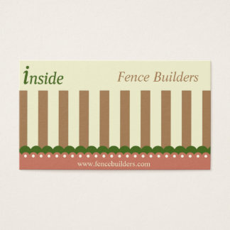 Brown Green Fence Builders Business Card
