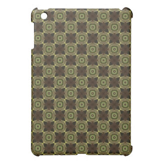 Brown & Green Square Pattern iPad Speck Case iPad Mini Cover
