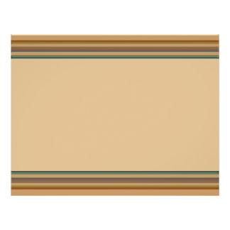 Brown green stripes 21.5 cm x 28 cm flyer