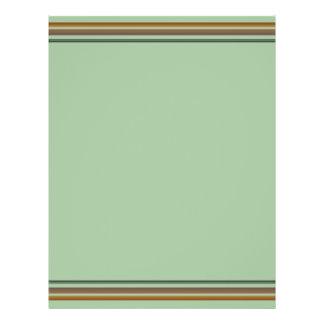 Brown green stripes flyer design