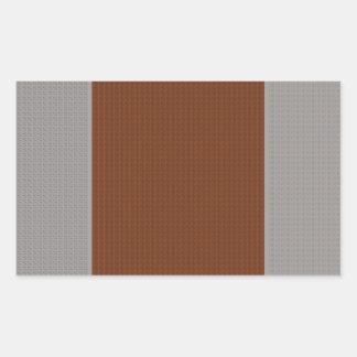 Brown Grey - Two Toned Rectangular Sticker