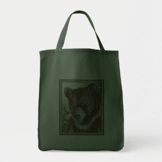 Brown Grizzly Cub Canvas Bags