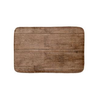 Brown Grunge Wood Texture Bath Mats