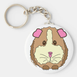 Brown Guinea Pig Key Ring