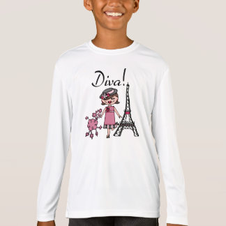 Brown Hair Diva T-Shirt