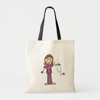 Brown Hair Female Stick Figure Nurse