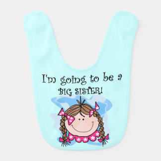 Brown Hair Going to be a Big Sister Bib