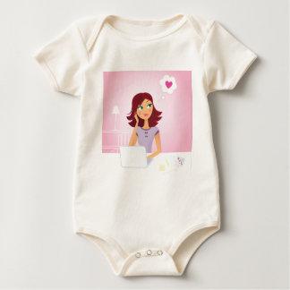 Brown hair Secretary dreaming about Love Baby Bodysuit